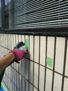 大田区 オフィスビル 外壁タイル部分補修