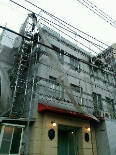渋谷区 学校 その他 外部仮設足場工事