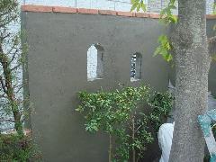 腰壁の疑木施工