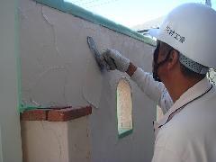 塀の化粧壁仕上げ
