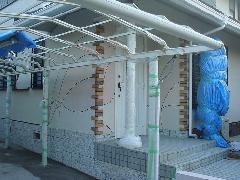 ヨーロピアン風の外壁施工