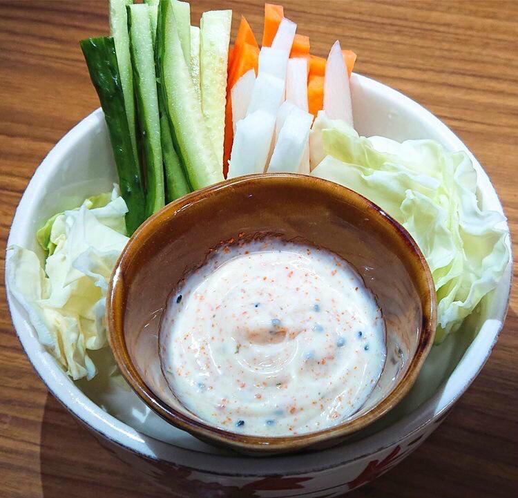 生野菜スティック盛(味噌マヨor七味マヨディップ)