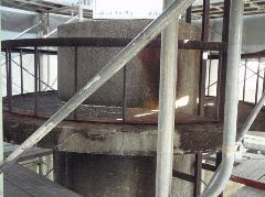 煙突内部ダイオキシン除去工事