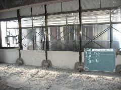京都市下京区高層ビル解体工事内アスベスト建材撤去