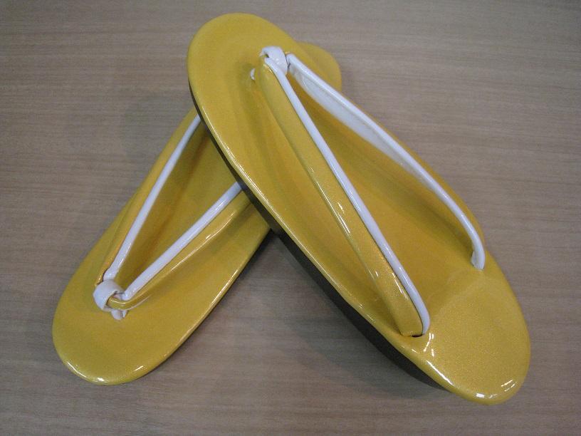ウレタン草履 黄色