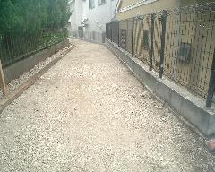 狭い私道の舗装