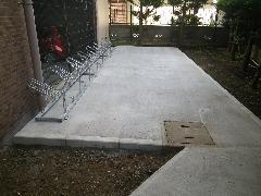 マンションの駐輪場増設 コンクリート舗装