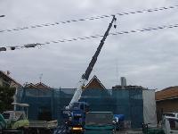 鉄骨造店舗の解体状況。
