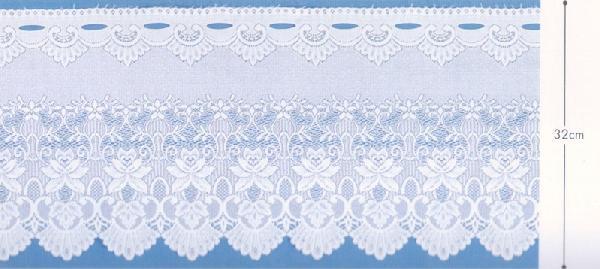 32�p巾のホワイトのカフェカーテン