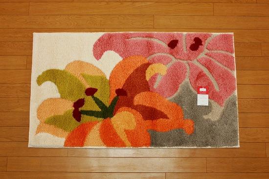 ヤマユリ マット アイボリー   40�×70�