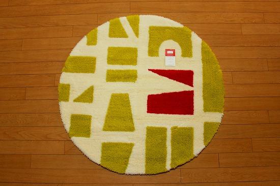 ツミキ マット円形 グリーン   90�×90� 丸