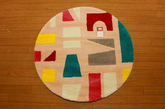 ツミキ マット円形 マルチ   90�×90� 丸