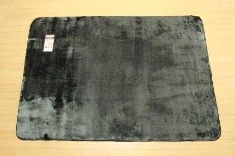 特価ラグ ロングファー ブラック 130�×185�