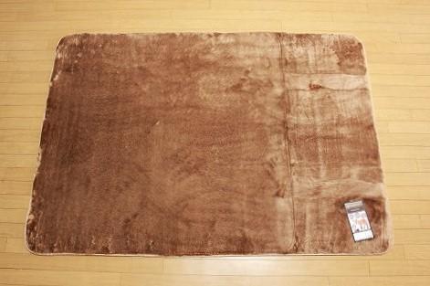 特価ラグ ロングファー ブラウン 130�×185�