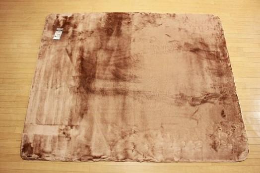 特価ラグ ロングファー ブラウン 185�×185�