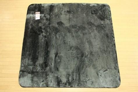 特価ラグ ロングファー ブラック 185�×185�