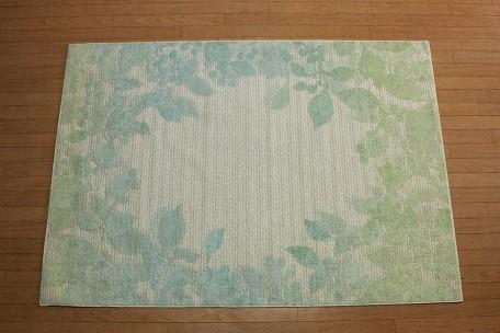 特価ラグ ニューリーシェ ラグ ブルー 130�×190�