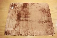 特価ラグ ロングファー ブラウン 185�p×185�p