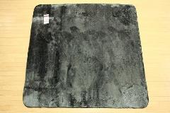 特価ラグ ロングファー ブラック 185�p×185�p