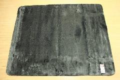 特価ラグ ロングファー ブラック 200�p×250�p