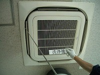 室内機洗浄後 温度測定