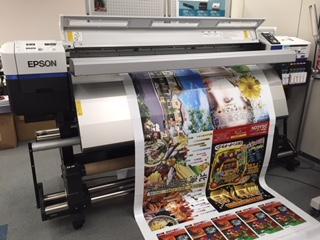 インクジェット機で印刷