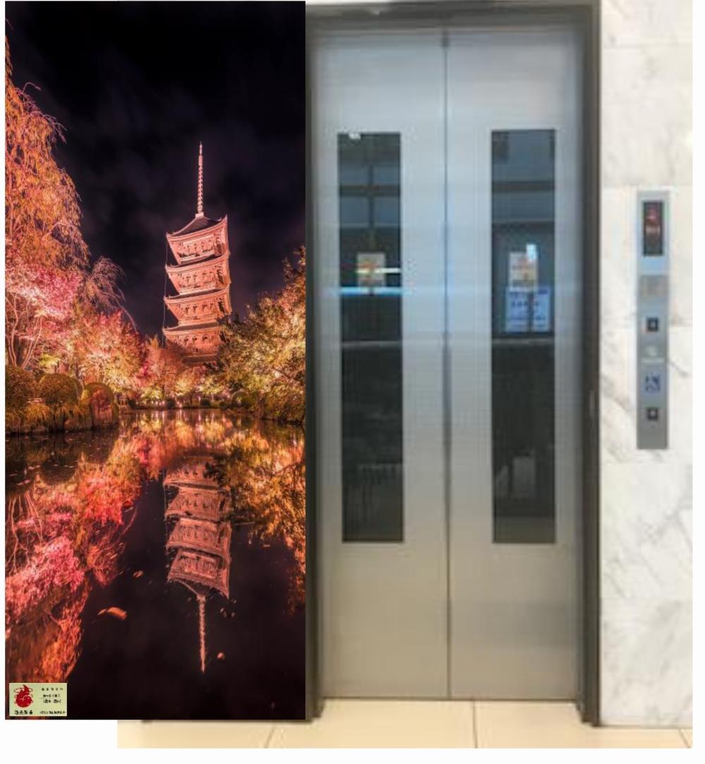 ホテル/エレベータードア横 壁面