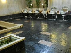 磁器タイルに施工(ホテル大浴場)