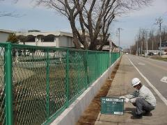 茨城県 古河市 フェンス設置工事