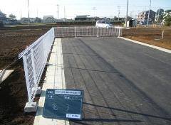 古河市 宅地造成工事に伴うフェンス設置工事