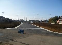 古河市 宅地造成工事に伴う位置指定道路工事