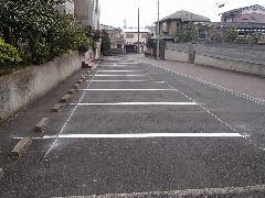 茨城県 月極駐車場の区画線工事