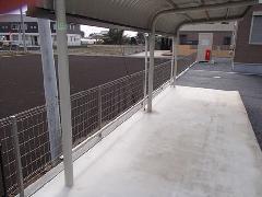 古河市 アパートの外構フェンス設置工事
