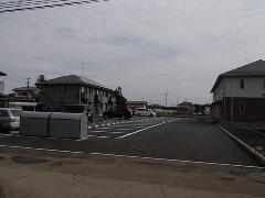 古河市 アパート駐車場の透水性舗装工事