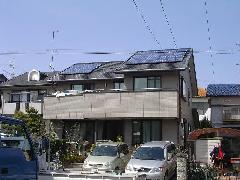 切妻 太陽光発電設置施工例