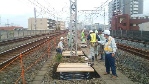 東武鉄道様の軌道整備工事