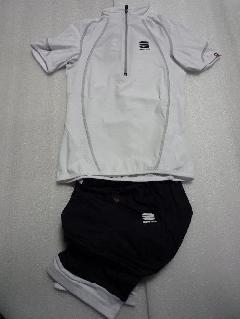 2011SPORTFUL Shirt CHIC&SHORT CHIC/2011 スポルトフル チック レディース上下セット【ホワイト】   Mサイズ
