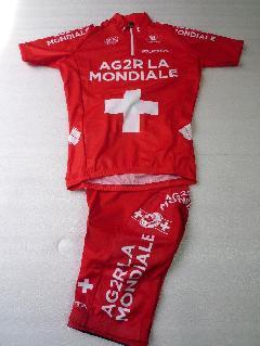 2011 VERMARC AG2R SWISS CHAMPION プロチーム レプリカウェアー上下セット/2011 フェルマルク  アージェードゥーゼル スイスチャンピオン チームジャージ上下セット【Lサイズ】特価★完売致しました。