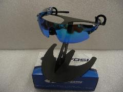 2015 TIFOSI  Podium �]C (1070106122)/2015モデル ティフォージ ポディウムXC 【クリスタルブルー;フレーム】&クラリオンブルー;レンズ(ACレッド&クリアー)レンズ付き 特価!