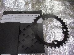absolute BLACK PURMUM OVAL ROAD PCD 110 4Bolt/アブスリュート ブラック CNC オーバル インナーギア 【ブラックカラー】 34T 入荷中!
