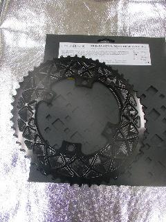 absolute BLACK PURMUM OVAL ROAD PCD 110 4Bolt/アブスリュート ブラック CNC オーバル アウターギア 【ブラックカラー】 52T