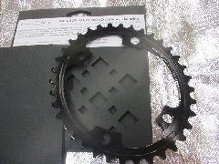 absolute BLACK PURMUM OVAL ROAD PCD 110 4Bolt/アブスリュート ブラック CNC オーバル インナーギア 【ブラックカラー】 36T