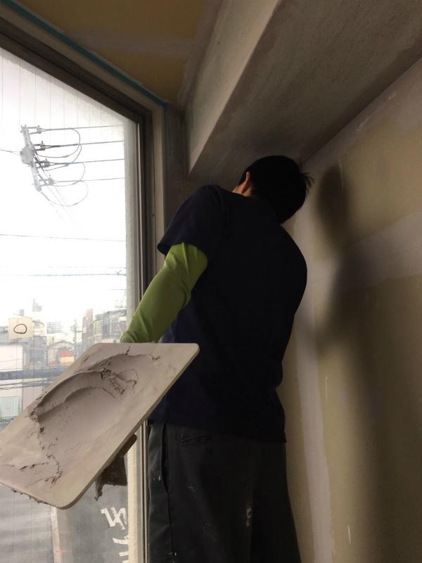 内装工事(漆喰壁仕上げ)