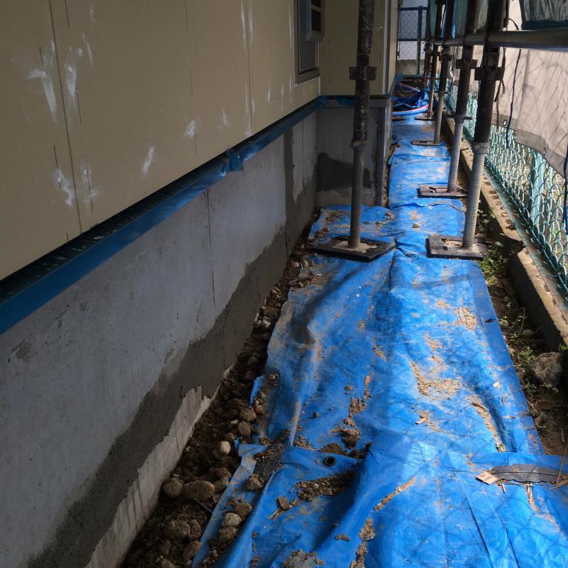 外構コンクリート土間仕上げ
