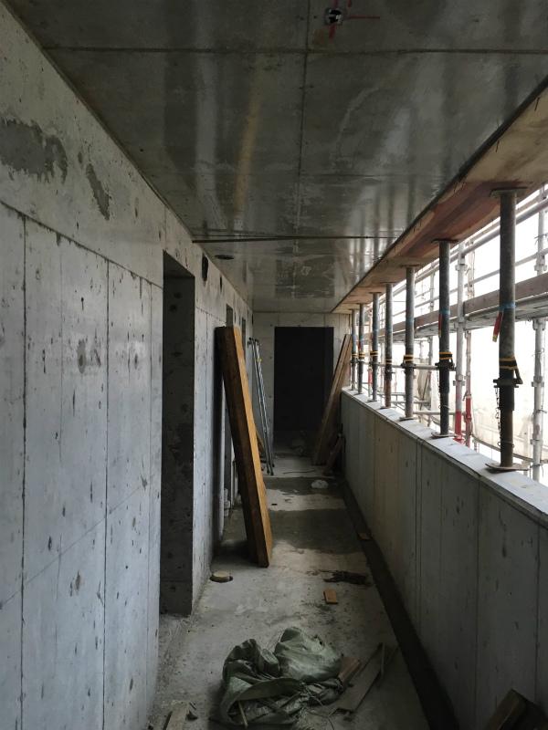 賃貸マンションのコンクリート工事