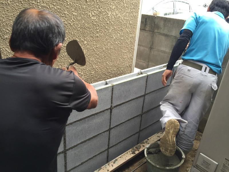 ブロック塀修理