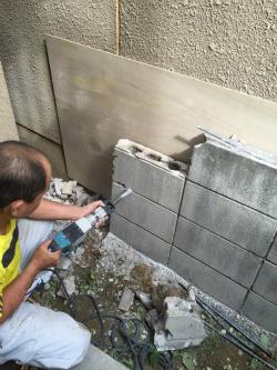 ブロック塀の解体・積み直し