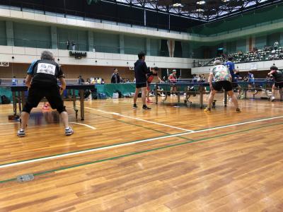 高槻市で行われた卓球大会