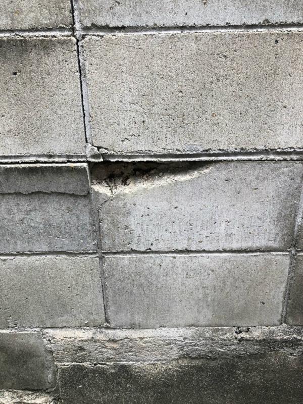 ブロック塀の破損・亀裂補修