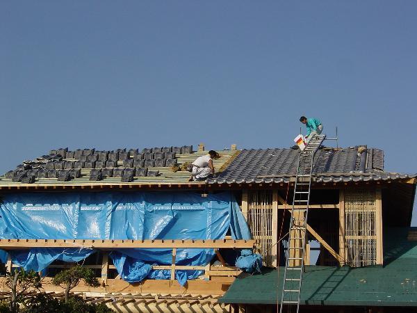 屋根+壁下地